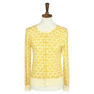 Halogen Cardigan Yellow and Cream S